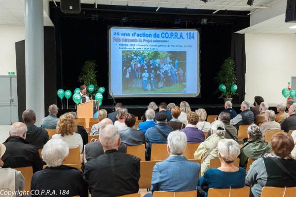 25 ans du CO.P.R.A. 184 - Discours d'accueil de la Présidente Christiane Paravy