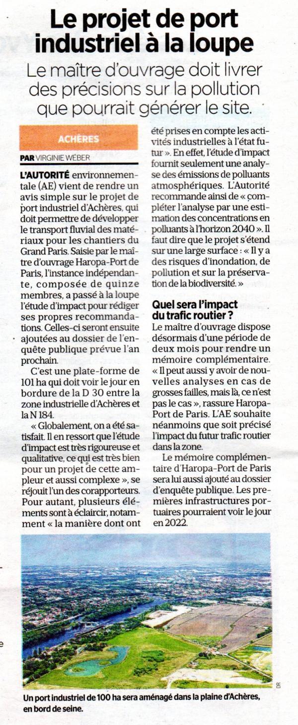 article du Parisien du 10-12-2019