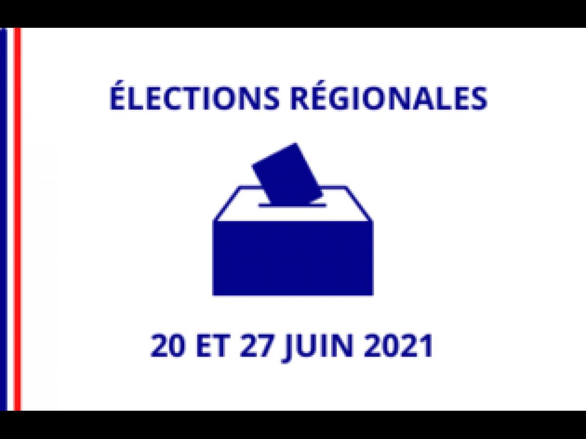 Elections régionales des 20 et 27 juin 2021
